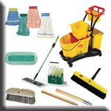 Commercial Cleaning Equipment - Commercial Heavy-Duty Brooms & Brushes, Mops & Buckets