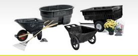 Rubbermaid 5642BLA Commercial Big Wheel Agriculture Cart  |Rubbermaid Agricultural Products