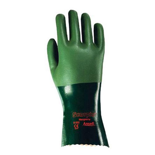 Ansell Scorpio Neoprene Coated Gauntlet Gloves Xl Sku