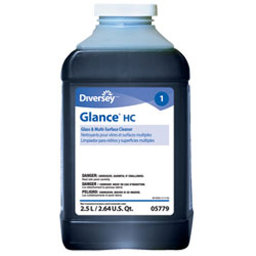 Glance Glass and Surface Cleaner 2.5 Liter J-Fill SKU#JW905779, Diversey Glance Glass and Surface Cleaner 2.5 Liter J-Fill SKU#JW905779
