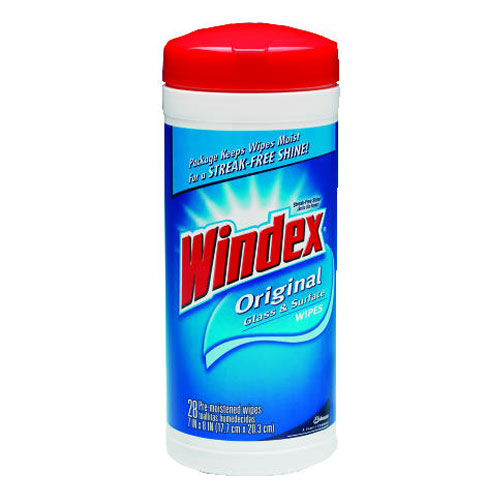 Windex Original Glass-Surface Wipes SKU#DRKCB702325, Diversey Windex Original Glass-Surface Wipes SKU#DRKCB702325
