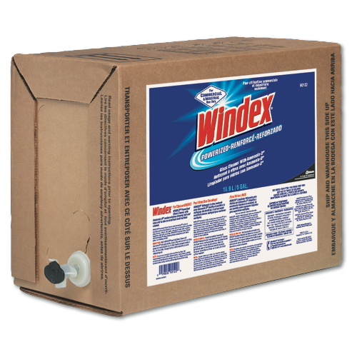 Windex in 5-Gal Bag-In-Box Dispensers SKU#DRK90122, Diversey Windex in 5-Gallon Bag-In-Box Dispenser SKU#DRK90122