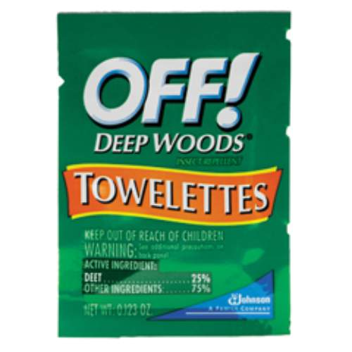 OFF! Deep Woods Towelette SKU#DRKCB549967, Diversey OFF! Deep Woods Towelettes SKU#DRKCB549967