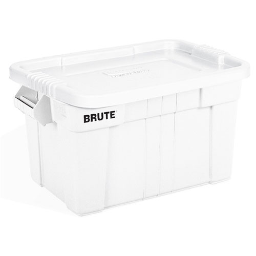 Rubbermaid Commercial BRUTE Totes w Lids SKU#RCP9S31WHT, Rubbermaid