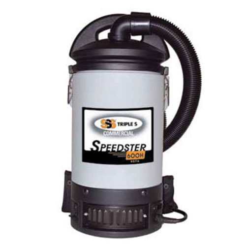 SSS Speedster 600H BackPack Commercial HEPA Vacuum Cleaners SKU#SSS56008, SSS Speedster 600H BackPack Commercial HEPA Vacuum Cleaner SKU#SSS56008