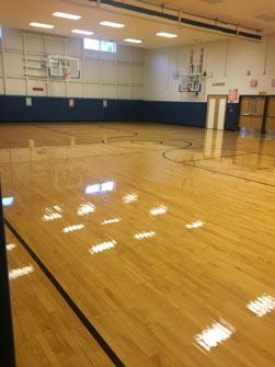 Refinished Barker CSD School Gym Floor, NY