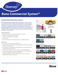 Bona Commercial System Resilient Floor Renovation Overview Brochure