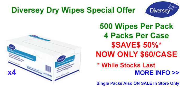 Diversey Dry Wipes Now On Sale - $SAVE$ 50%