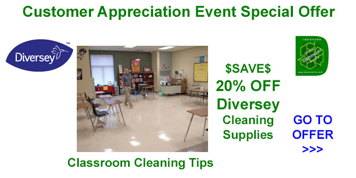 Diversey Special Offers & Classroom Cleaning Tips In Dobmeier 2020 Online Event