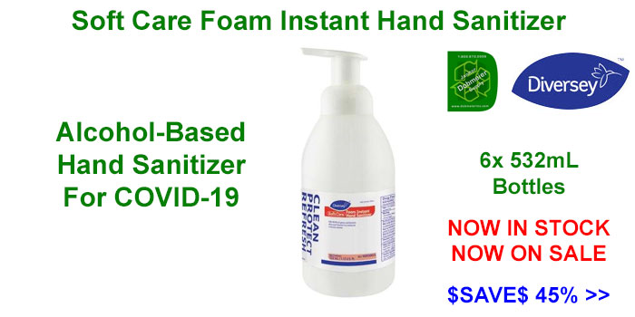 Diversey SoftCare Hand Sanitizer For COVID-19 Now On Sale - $SAVE$ 45%