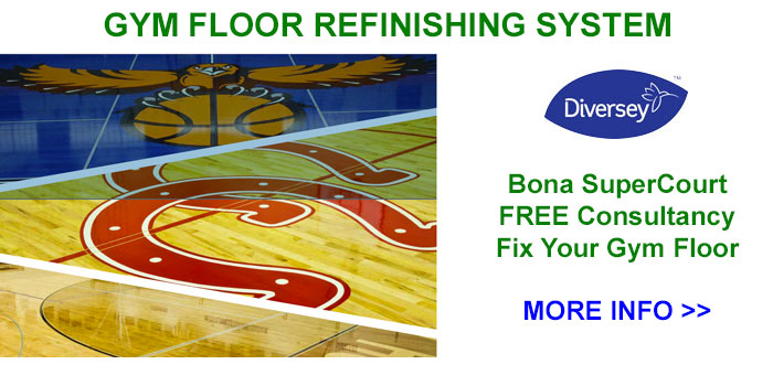 Diversey-Bona Gym Floor Refinishing System, Buffalo, NY