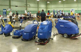 Clarke Janitorial Cleaning Equipment Display at Dobmeier Event 2019