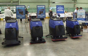 Pacific Janitorial Cleaning Equipment Display at Dobmeier Event 2019