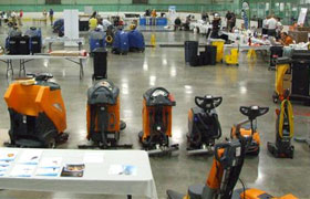 Taski Janitorial Cleaning Equipment Display at Dobmeier Event 2019