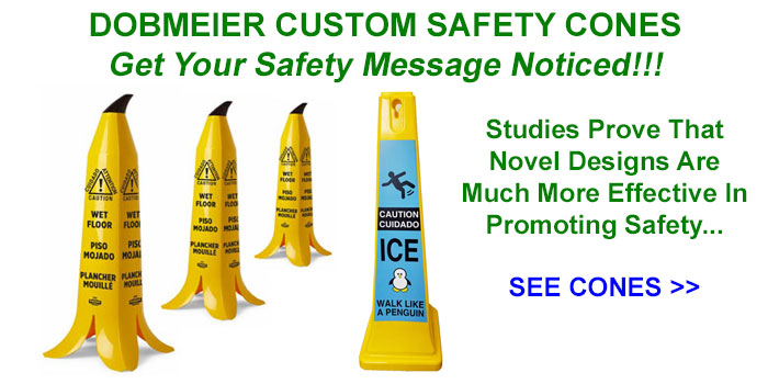 Dobmeier Special Edition Walk Like A Penguin Safety Cones & Banana Safety Cones