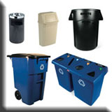 Commercial Janitorial Equipment - Heavy-Duty Recycle & Waste Receptacles