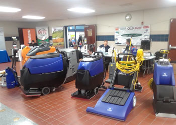 Dobmeier Janitorial Equipment Workshop & Booth, Niagara Falls School, NY