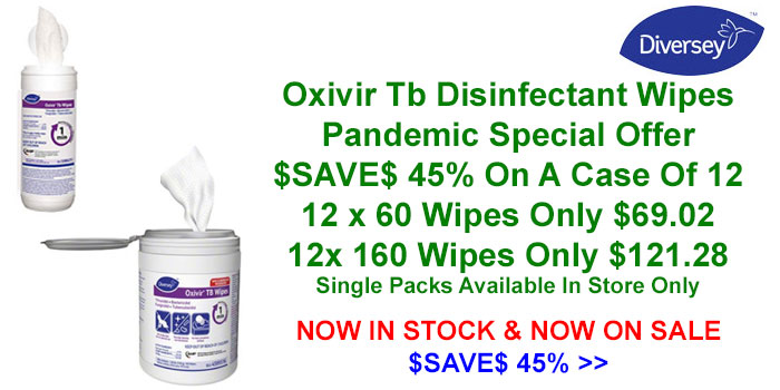 Diversey Oxivir Tb Wipes - Disinfectant For COVID-19 Now On Special Offer