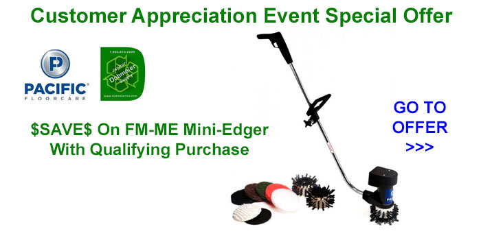 Pacific Floorcare Mini Edger Special   Dobmeier 2020 Online Event