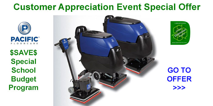Pacific Floorcare Special School Budgets Offer In Dobmeier 2020 Online Event