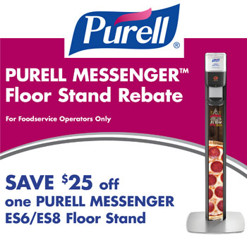 Purell Messenger Floor Stand Promotion For Foodservice Operators