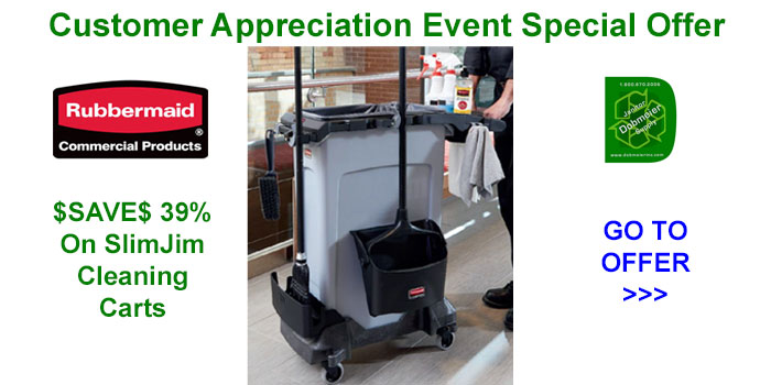 Rubbermaid Slim Jim Cart Offers In Dobmeier 2020 Online Event