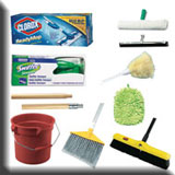 Residential Cleaning Equipment - Brooms & Brushes, Mops & Buckets