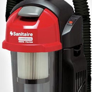 Sanitaire Sealed HEPA Upright Vacuum Cleaners - Bagless Model SC5845 shown