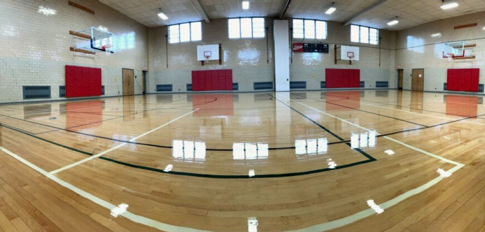 Refinished Sheridan Parkside School Gym Floor, Tonawanda, NY
