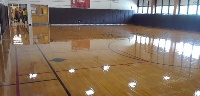 Refinished Niagara Wheatfield School Gym Floor, NY