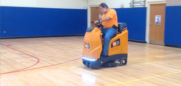 Cleaning The Gym Floor, Charlotte Sidway School, Grand Island, NY
