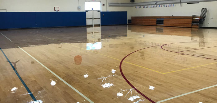 Refinished Gym Floor, Charlotte Sidway School, Grand Island, NY