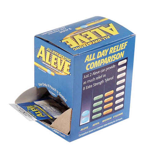 Aleve Pain Reliever SKU#ACE90010, Acme United Aleve Pain Reliever 1-Pk 50 Pk-Box SKU#ACE90010