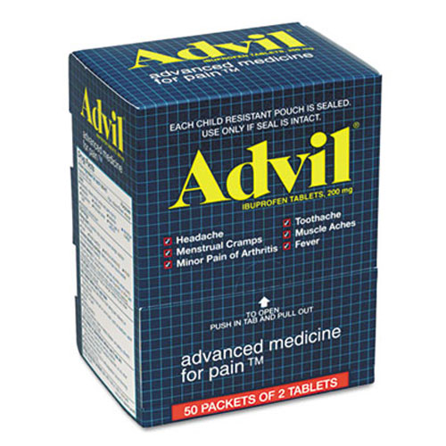Advil Tablet SKU#PFY BXAV50, Acme United Corporation Advil Tablets SKU#PFY BXAV50