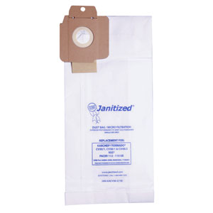 Janitized Vacuum Cleaner Filter Bag SKU#APCJAN-KACV30-2 For Karcher Tornado, Janitized Vacuum Cleaner Filter Bags SKU#APCJAN-KACV30-2 For Karcher Tornado