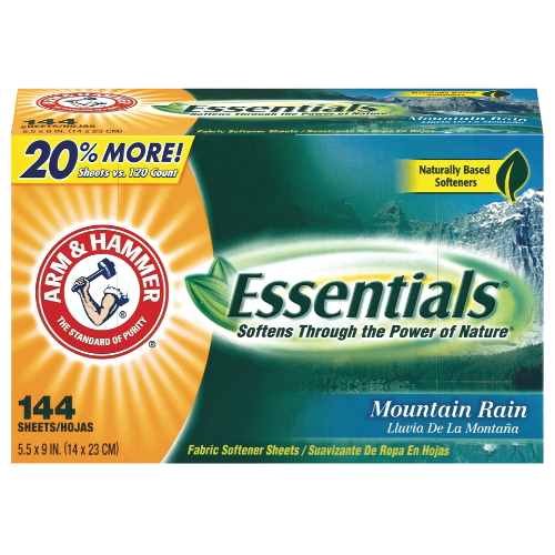 Arm Hammer Essentials Fabric Softener Sheets SKU#CDC14995, Arm Hammer Essentials Fabric Softener Sheets SKU#CDC14995