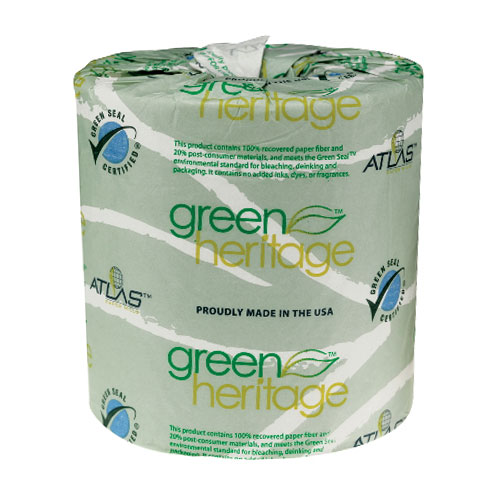 Green Heritage Bathroom Tissues SKU#APM235GREEN, Atlas Paper Mills Green Heritage Bathroom Tissue SKU#APM235GREEN