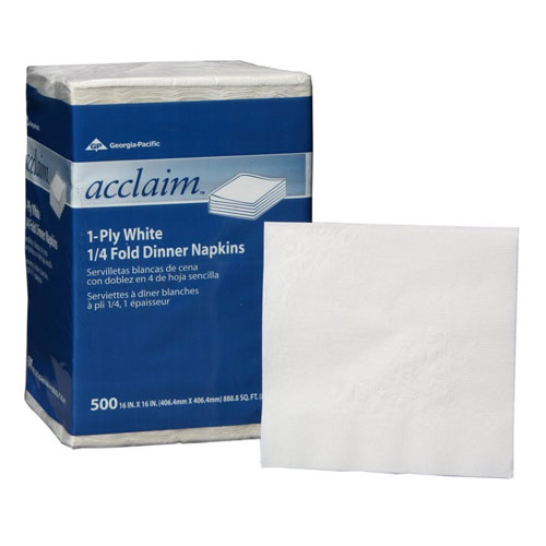 Acclaim 1Ply QuarterFold Paper Dinner Napkins SKU#GPC36202, Georgia Pacific Acclaim 1Ply QuarterFold Paper Dinner Napkins SKU#GPC36202
