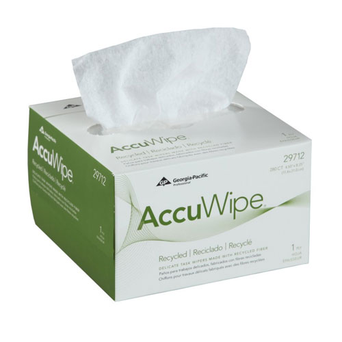 AccuWipe Recycled 1Ply Delicate Task Wipers SKU#GPC29712, Georgia Pacific AccuWipe Recycled 1Ply Delicate Task Wipers SKU#GPC29712