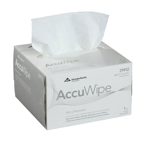 AccuWipe MicroPremium 1Ply Delicate Task Wipers SKU#GPC29912, Georgia Pacific AccuWipe MicroPremium 1Ply Delicate Task Wipers SKU#GPC29912
