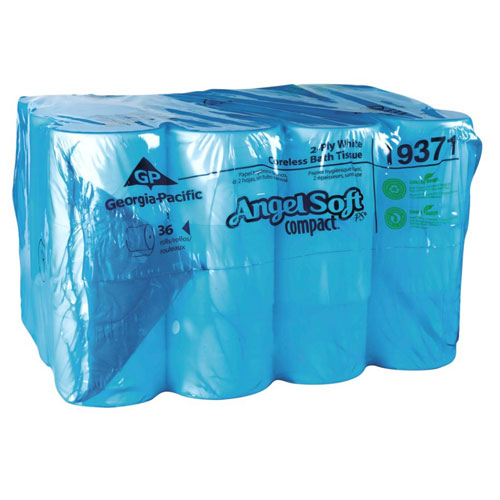 Angel Soft ps Compact Coreless 2Ply Premium Bathroom Tissue SKU#GPC19371, Georgia Pacific Angel Soft ps Compact Coreless 2Ply Premium Bathroom Tissue SKU#GPC19371