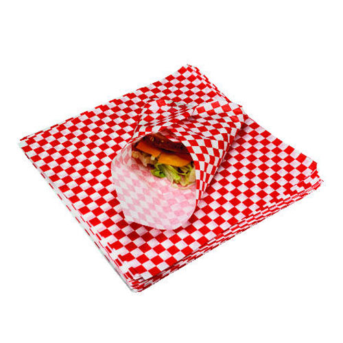 Grease Resist Paper Sandwich Wrap 12X12 Red Check SKU#BGC057700, Packaging Dynamics Corp Grease Resist Paper Sandwich Wrap 12X12 Red Check SKU#BGC057700