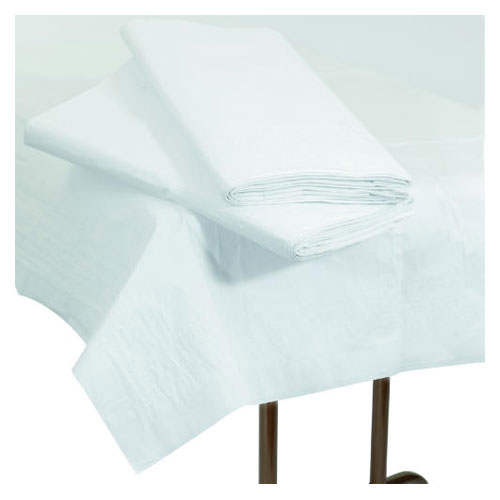 54X108in Table Cover Poly Paper Rectangular White SKU#BWK54108, Boardwalk 54X108in Table Cover Poly Paper Rectangular White SKU#BWK54108