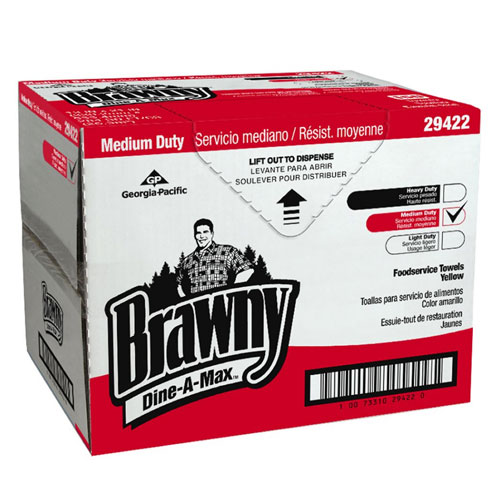 Brawny Dine-A-Max All Purpose Food Preparation & Bar Towel (HEF QuarterFold) SKU#GPC29422, Georgia Pacific Brawny Dine-A-Max All Purpose Food Preparation & Bar Towel (HEF QuarterFold) SKU#GPC29422