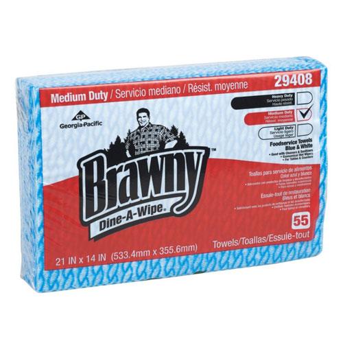 "BRAWNY DINE-A-MAX 29429 Food Prep//Bar Towel Hydroentangled Fibers 13/"" x 21/"","