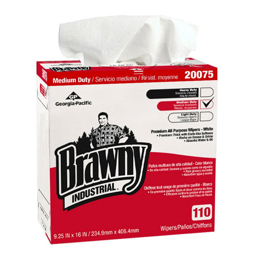 Brawny Industrial Premium All Purpose DRC Wipers (Tall Dispenser Box) SKU#GPC20075, Georgia Pacific Brawny Industrial Premium All Purpose DRC Wipers (Tall Dispenser Box) SKU#GPC20075