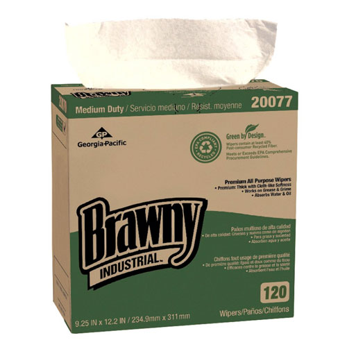 Brawny Industrial Medium Duty Premium All Purpose EPA DRC Wipers SKU#GPC20077, Georgia Pacific Brawny Industrial Medium Duty Premium All Purpose EPA DRC Wipers SKU#GPC20077
