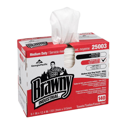 Brawny Industrial Medium Duty HEF Disposable Shop Towel SKU#GPC25003, Georgia Pacific Brawny Industrial Medium Duty HEF Disposable Shop Towel SKU#GPC25003