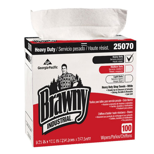Brawny Industrial Heavy Duty Shop Towels (Tall Dispenser Box) SKU#GPC25070, Georgia Pacific Brawny Industrial Heavy Duty Shop Towels (Tall Dispenser Box) SKU#GPC25070