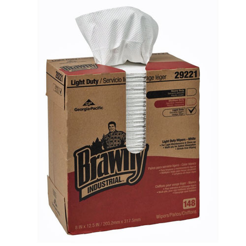 Brawny Industrial Light Duty 2Ply Paper Wipers SKU#GPC29221, Georgia Pacific Brawny Industrial Light Duty 2Ply Paper Wipers SKU#GPC29221
